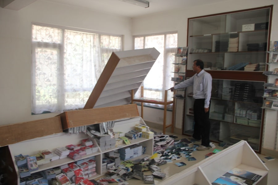Nepal Earthquake - Photo from the Nepal Bible Society shop