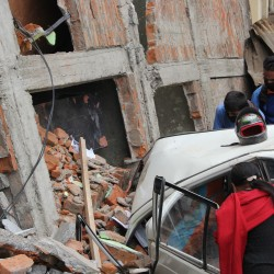 Damage caused by earthquake in Nepal