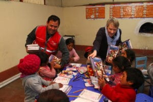 Elaine and Pablo Gutierrez helping with Scripture distribution in Peru as part of the Bread of Life programme