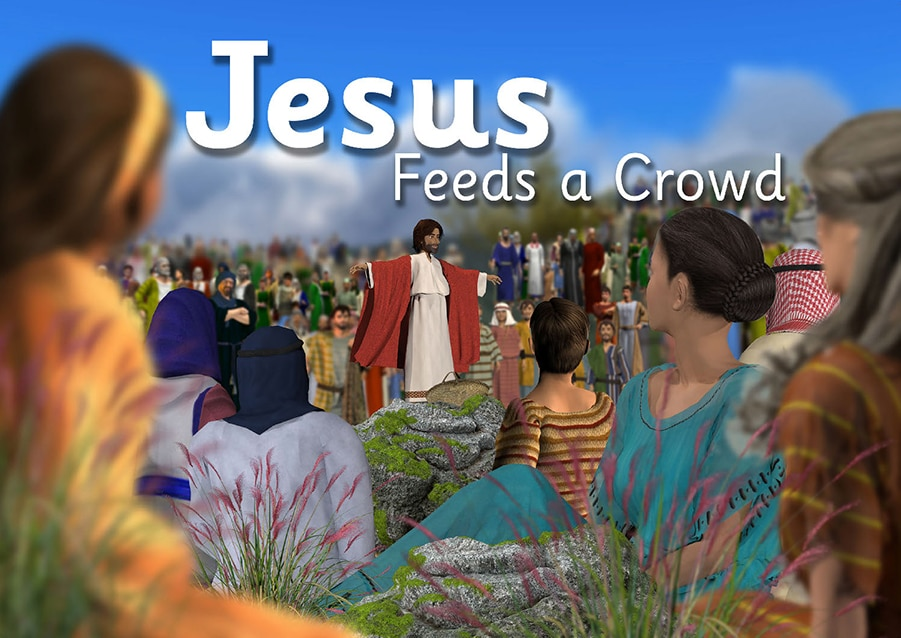 Jesus feeds a crowd - a free resource for all ages!