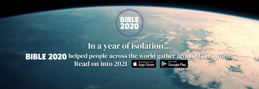 BIBLE 2020... Read on into 2021