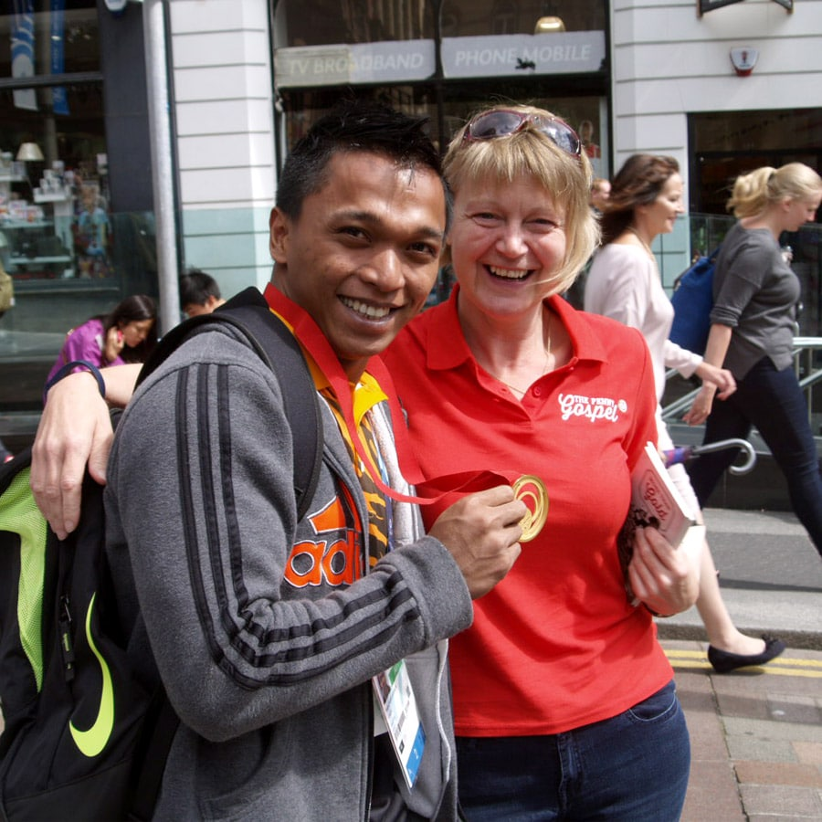 More than Gold - Fiona McDonald with gold-medal winning Mohd Hafifi Mansor